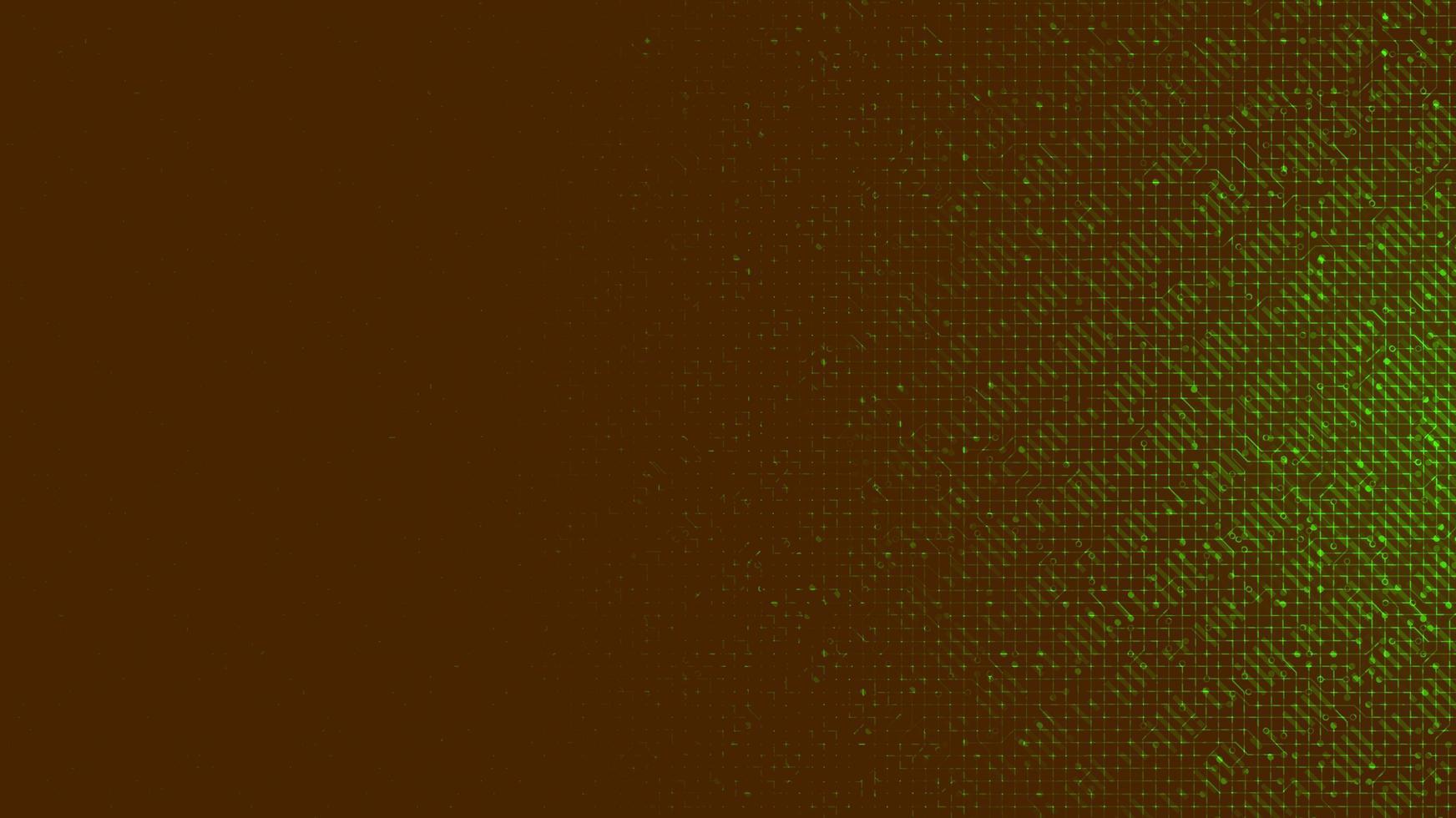 microchip giallo e verde su sfondo tecnologico, design vintage e concetto di sicurezza vettore