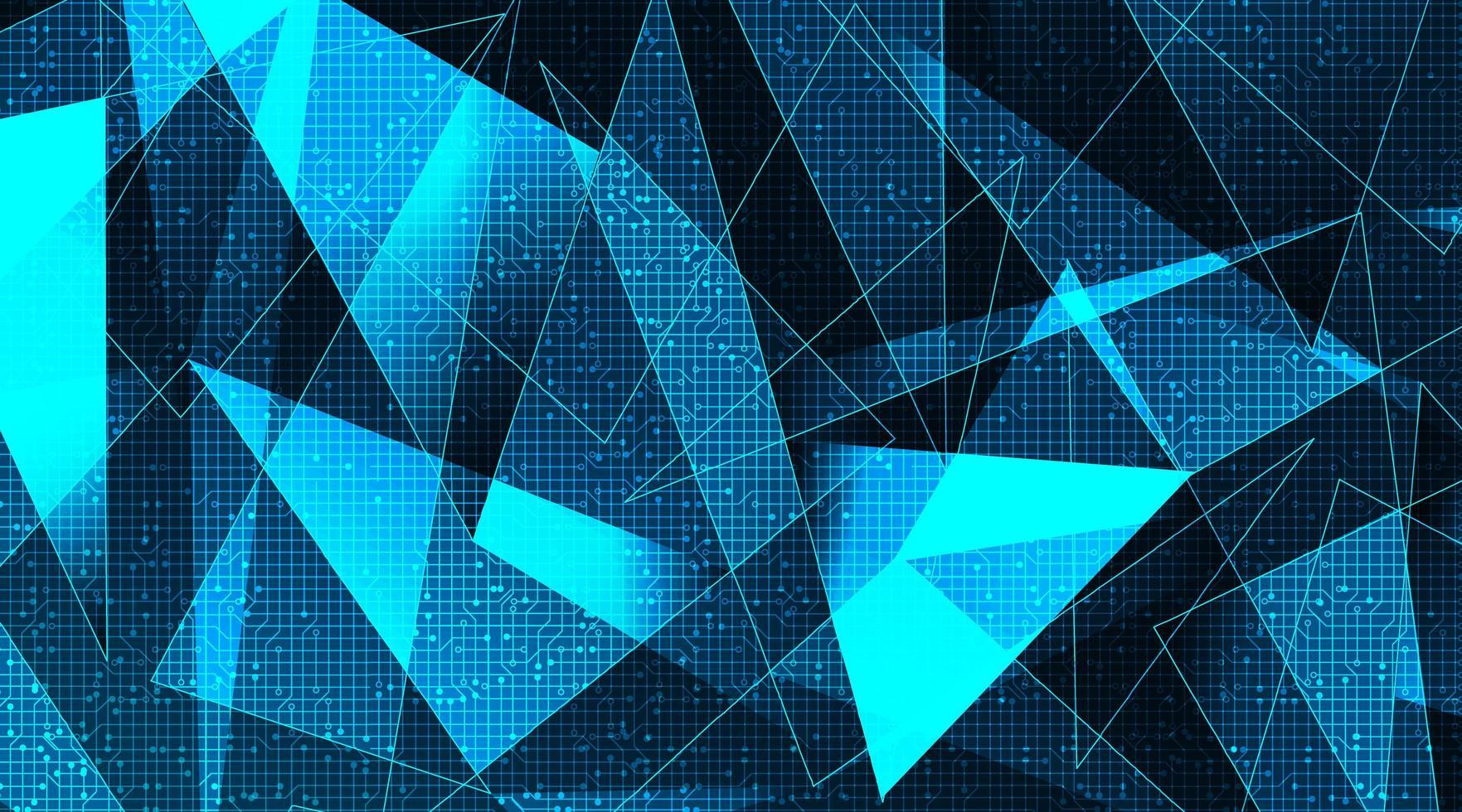 tecnologia futuristica delle molecole su sfondo di microchip, hi-tech e design del concetto di scienza vettore