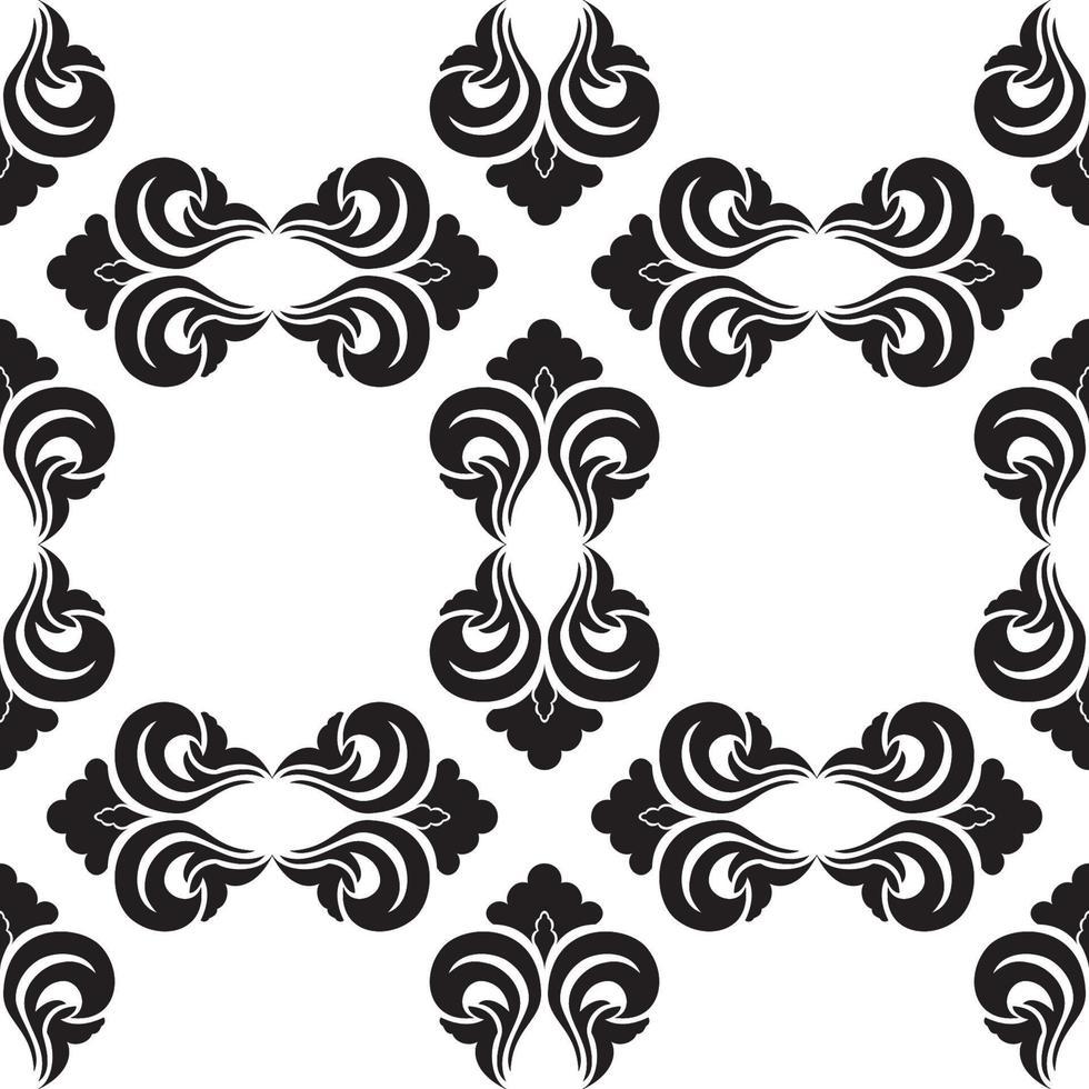 motivo decorativo vettoriale senza soluzione di continuità in colore nero con rombi vuoti su sfondo bianco.