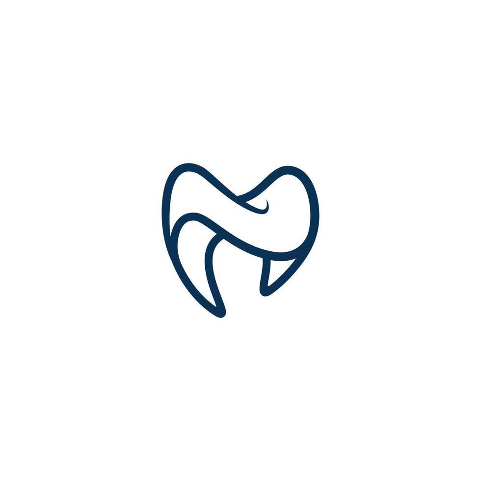 vettore di logo della clinica odontoiatrica e icona medica