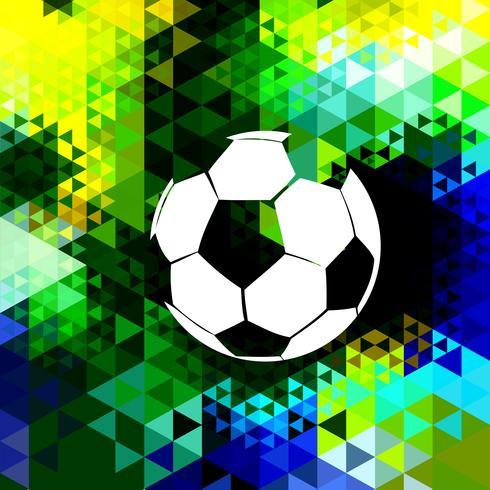 design colorato di calcio vettore
