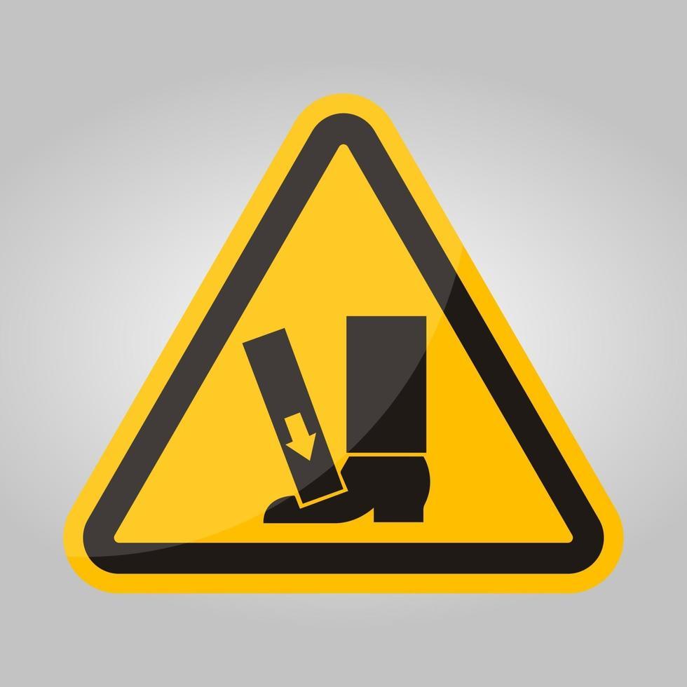 forza di schiacciamento del piede dall'alto segno simbolo, illustrazione vettoriale, isolare su sfondo bianco etichetta .eps10 vettore