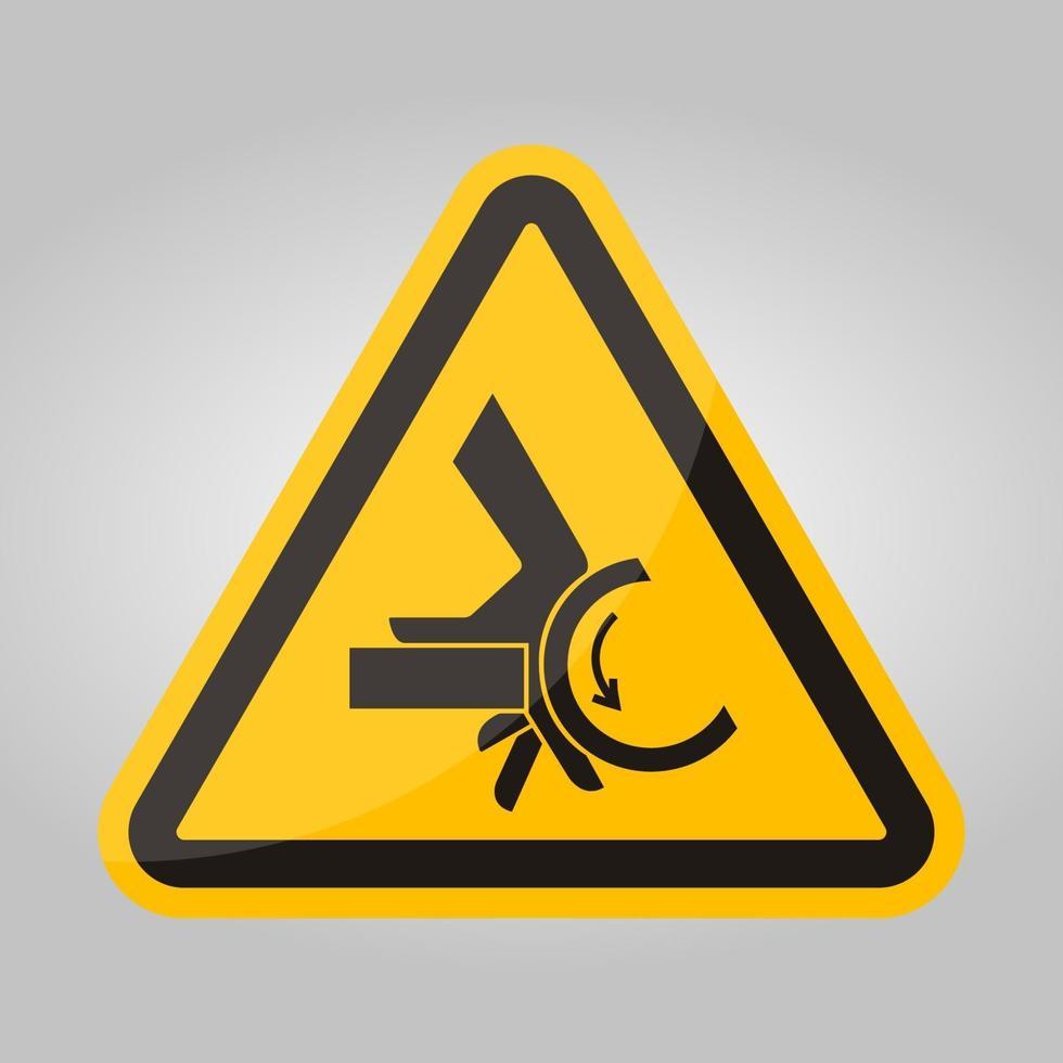 segno di simbolo del punto di pizzico del rullo di schiacciamento della mano, illustrazione di vettore, isolare sull'etichetta .eps10 del fondo bianco vettore