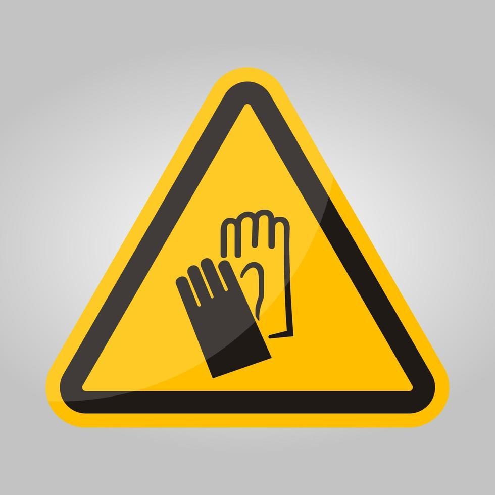 simbolo di usura segno di protezione della mano isolato su sfondo bianco, illustrazione eps.10 di vettore