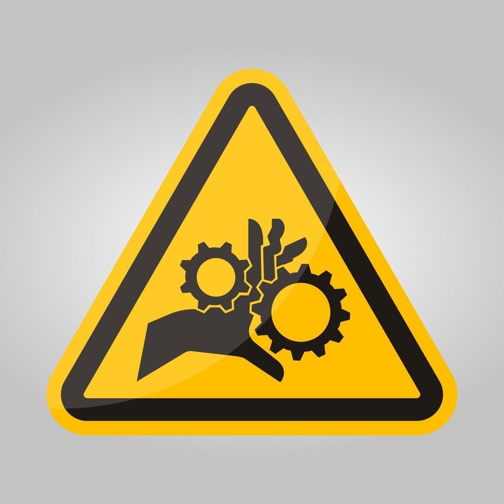 mano groviglio ingranaggi rotanti simbolo segno isolato su sfondo bianco, illustrazione vettoriale eps.10