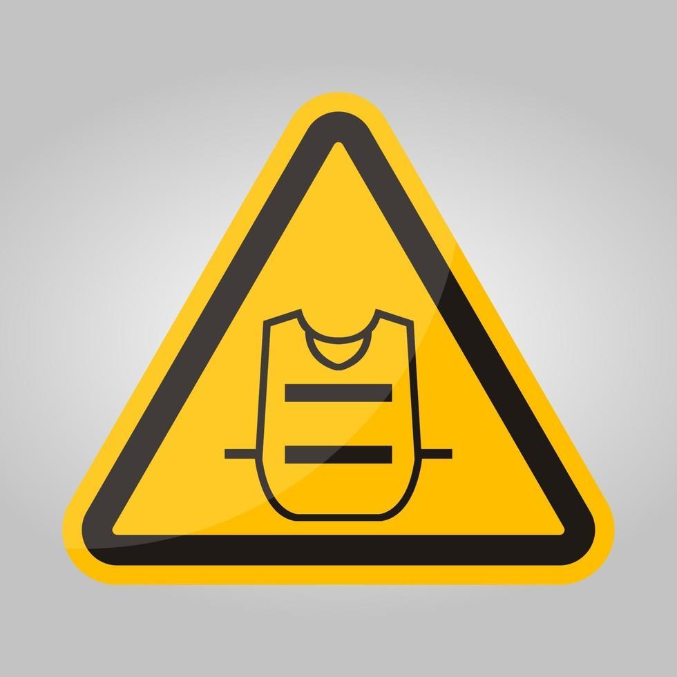simbolo gilet indossare isolare su sfondo bianco, illustrazione vettoriale eps.10