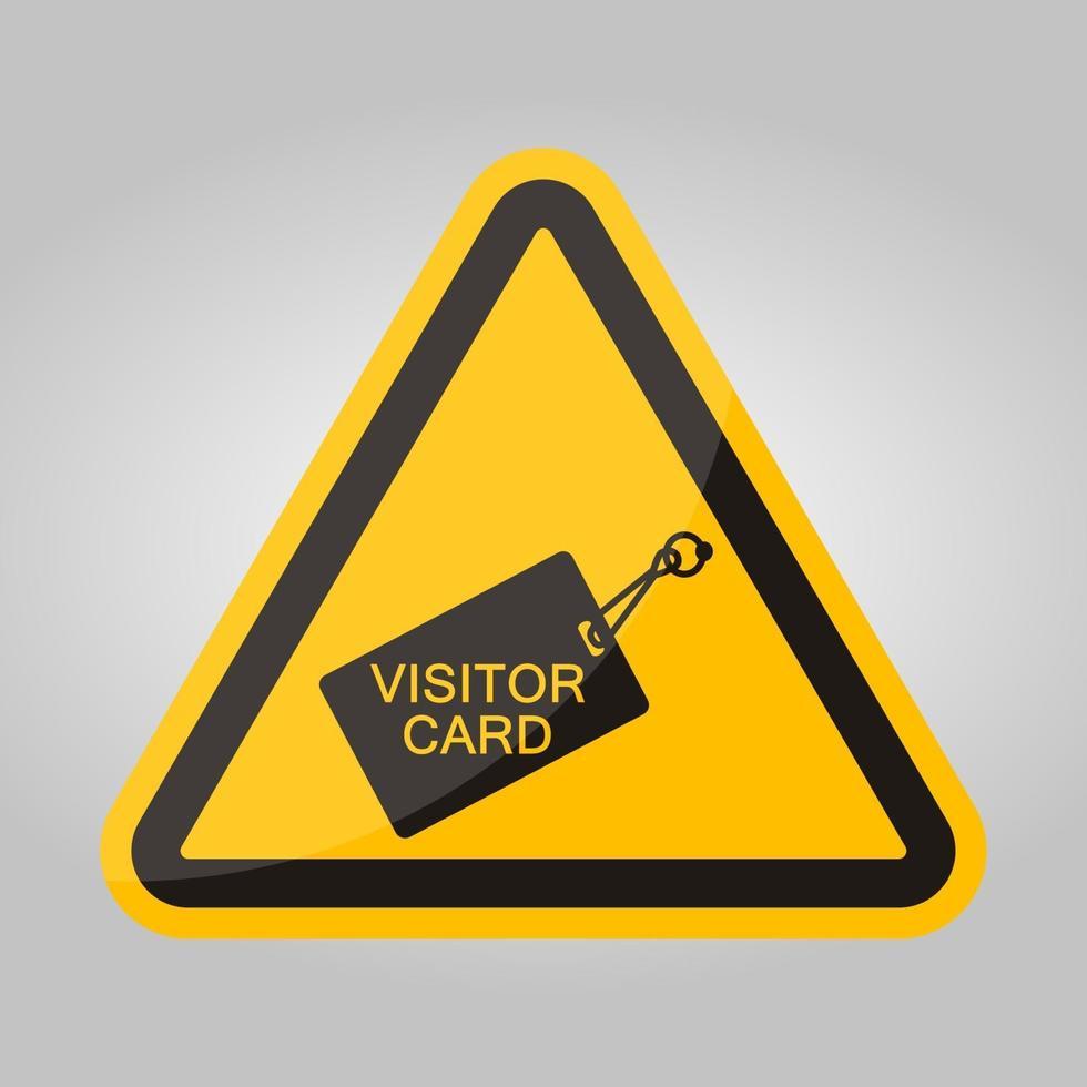 Arresti il segno di simbolo della carta di ritorno isolato su fondo bianco, illustrazione eps.10 di vettore