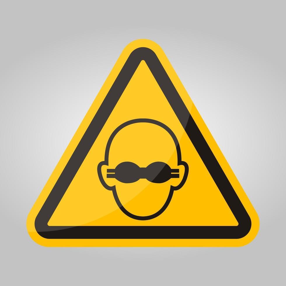 simbolo indossare opaco protezione per gli occhi segno isolato su sfondo bianco, illustrazione vettoriale eps.10
