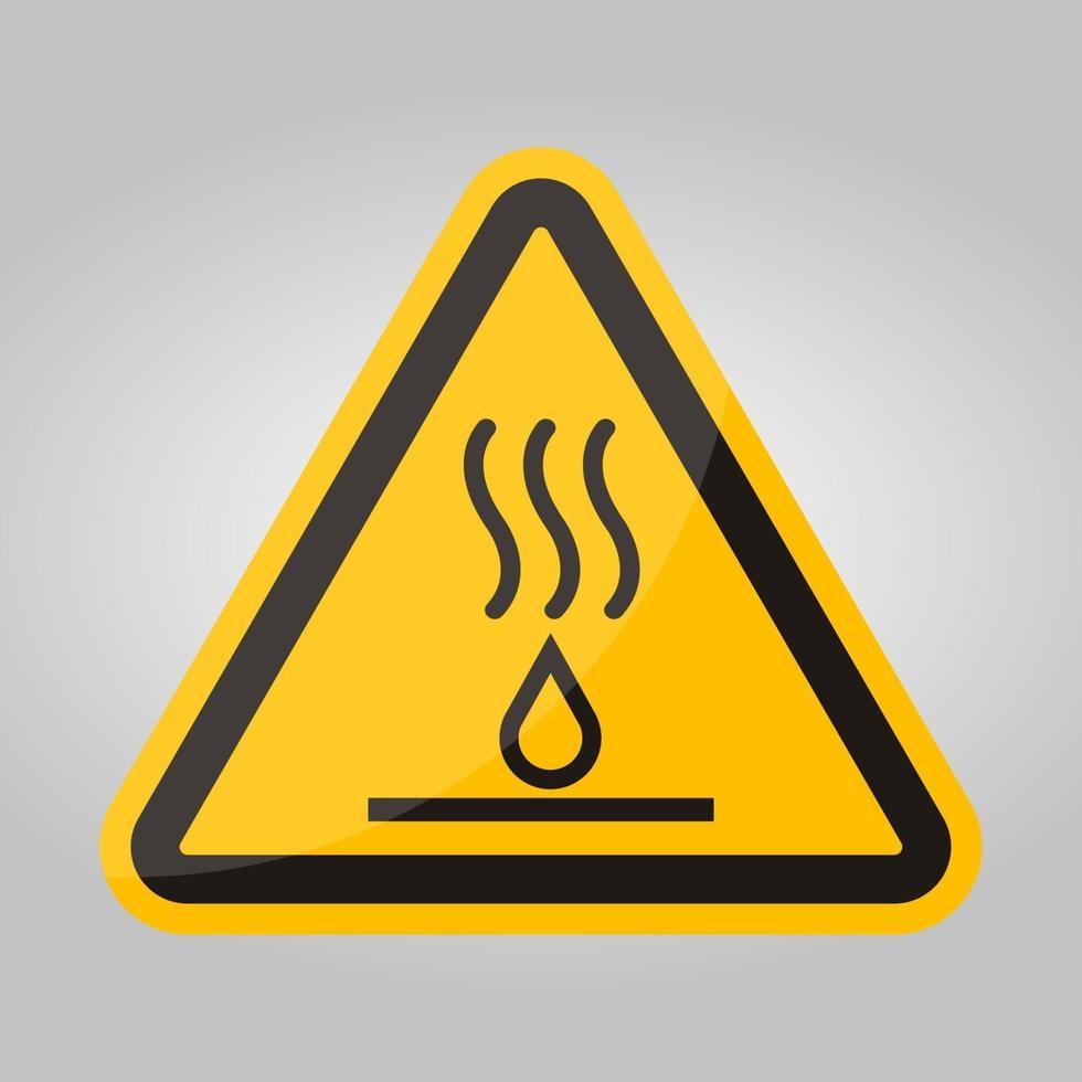 segno di simbolo di liquidi caldi isolato su sfondo bianco, illustrazione vettoriale eps.10