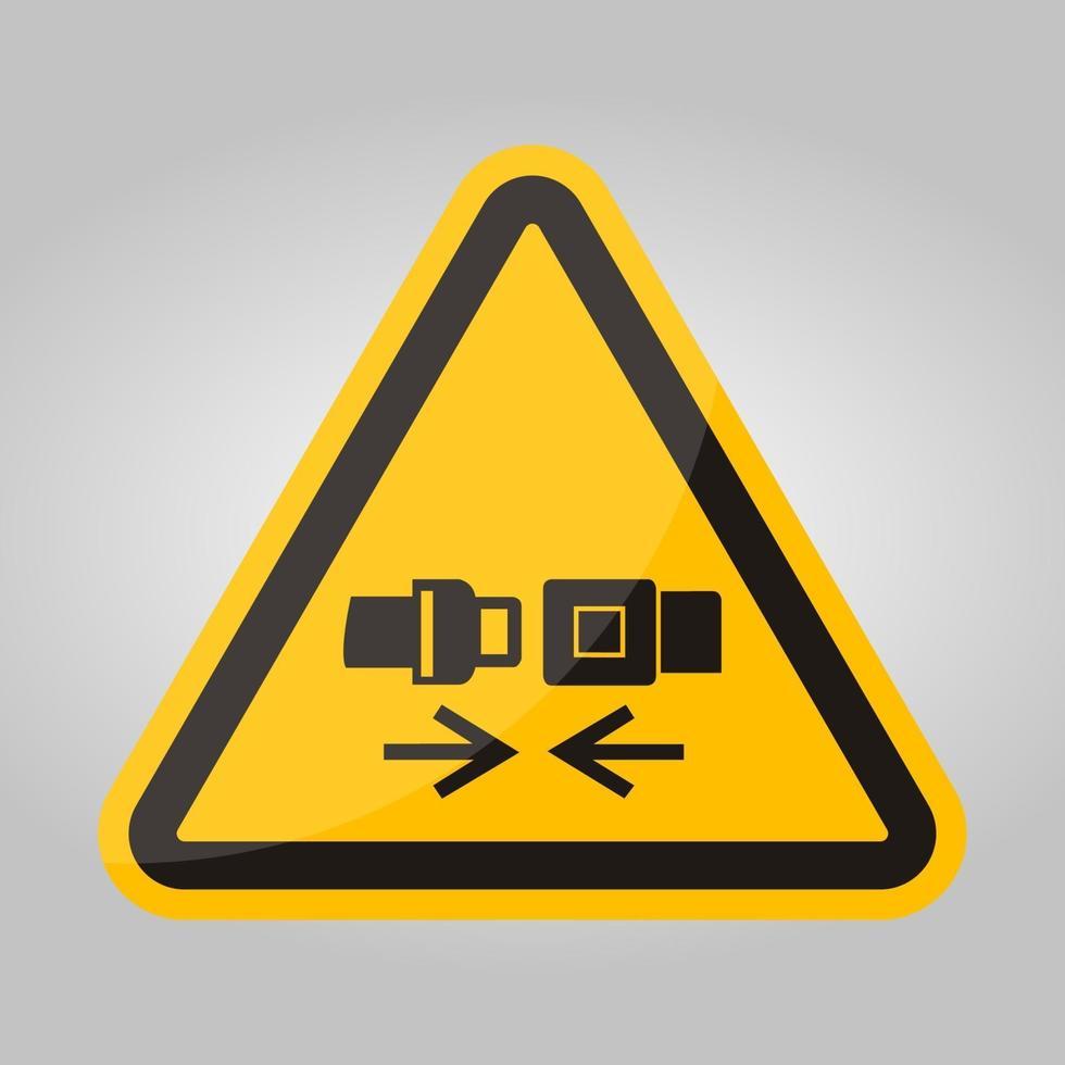 ppe icon. indossare cintura di sicurezza simbolo segno isolato su sfondo bianco, illustrazione vettoriale eps.10