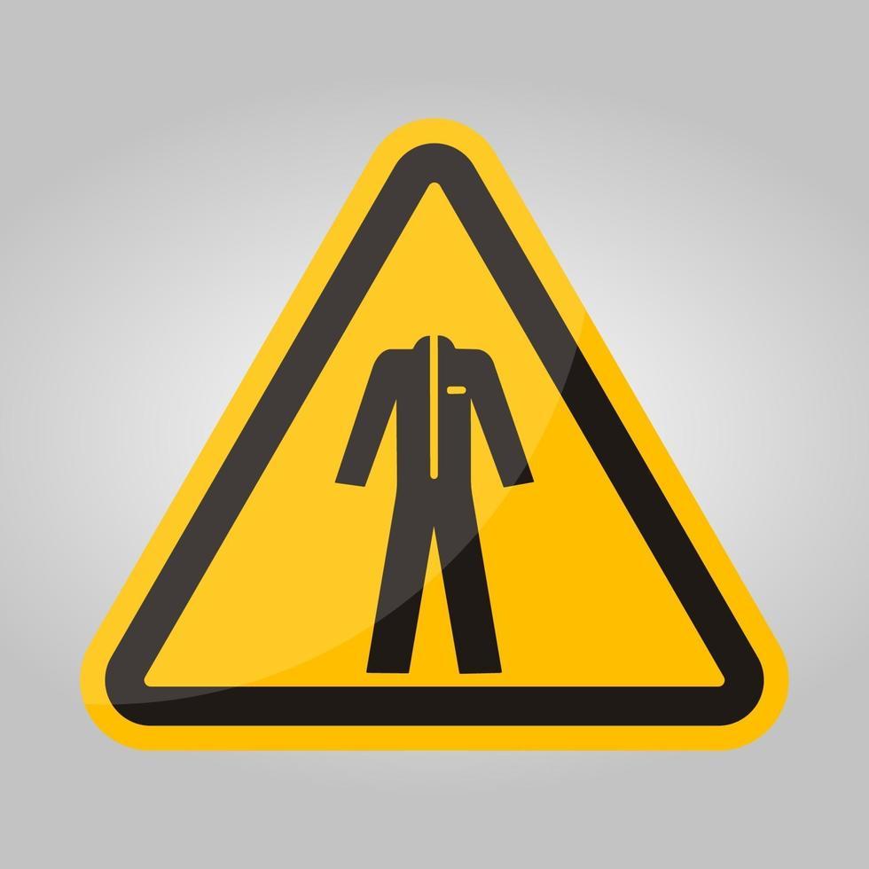 simbolo indossare indumenti protettivi isolare su sfondo bianco, illustrazione vettoriale eps.10