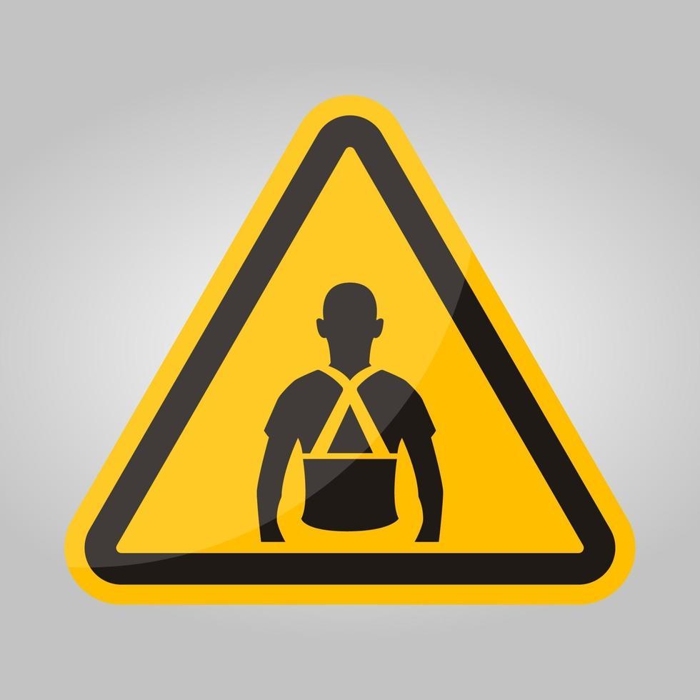 indossare indietro il segno simbolo di supporto isolare su sfondo bianco, illustrazione vettoriale eps.10