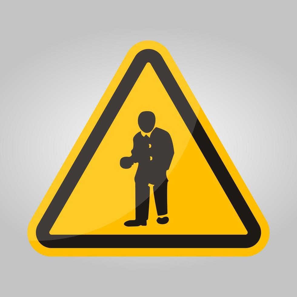 icona ppe. indossare indumenti protettivi segno simbolo isolato su sfondo bianco, illustrazione vettoriale eps.10