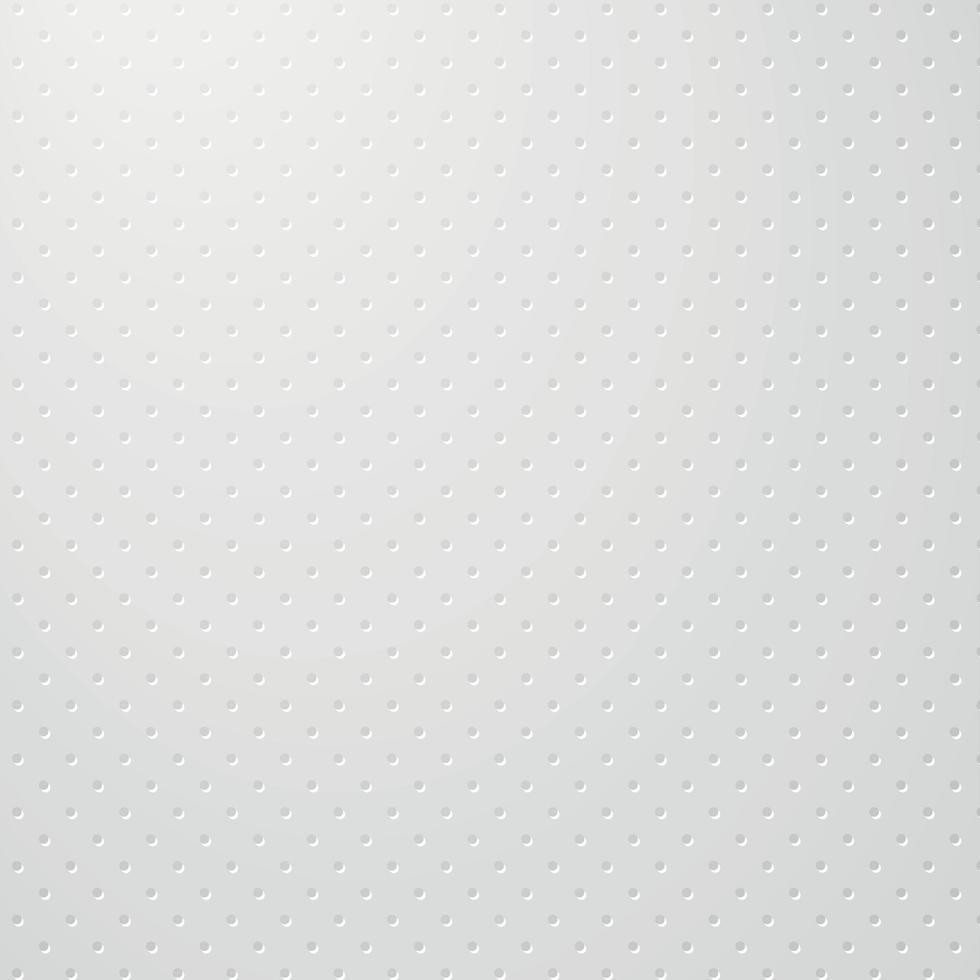 sfondo bianco perforato con fori bianchi e un bagliore vettore