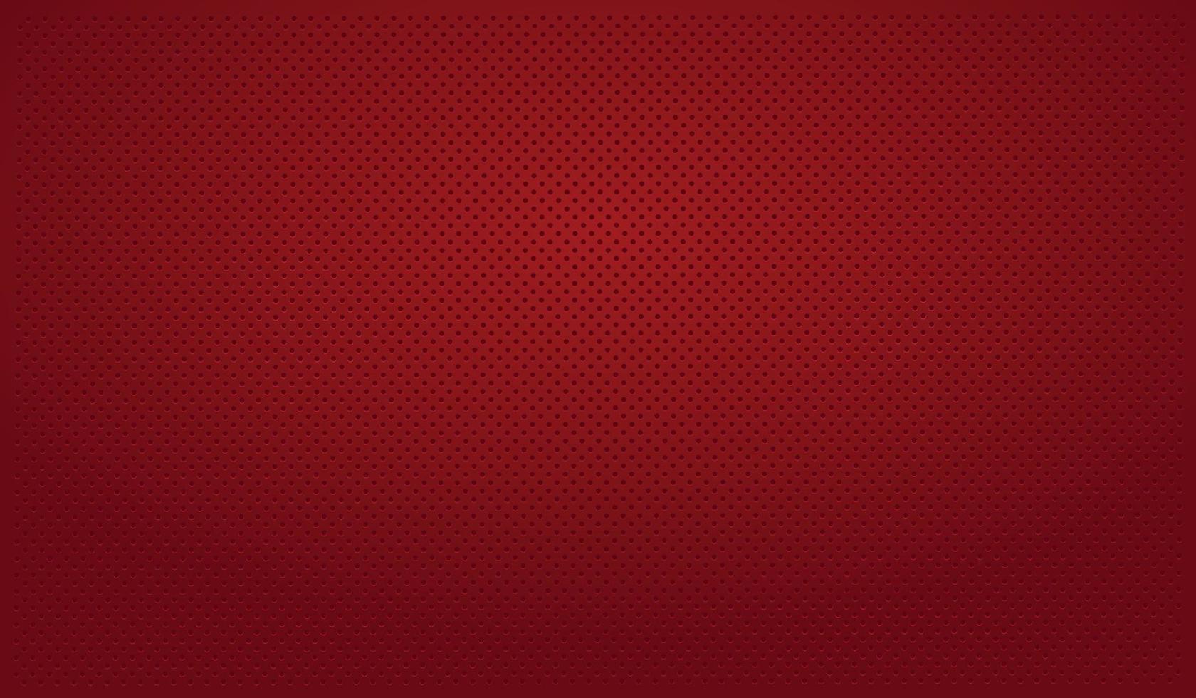 sfondo rosso perforato con fori rossi e un bagliore vettore
