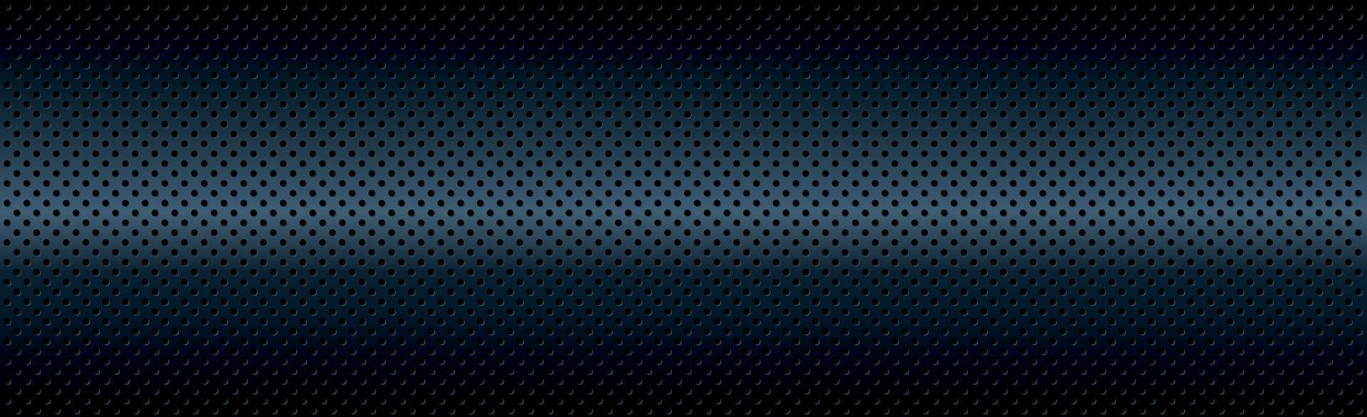 blu perforato sfondo blu con buchi neri e bagliore vettore