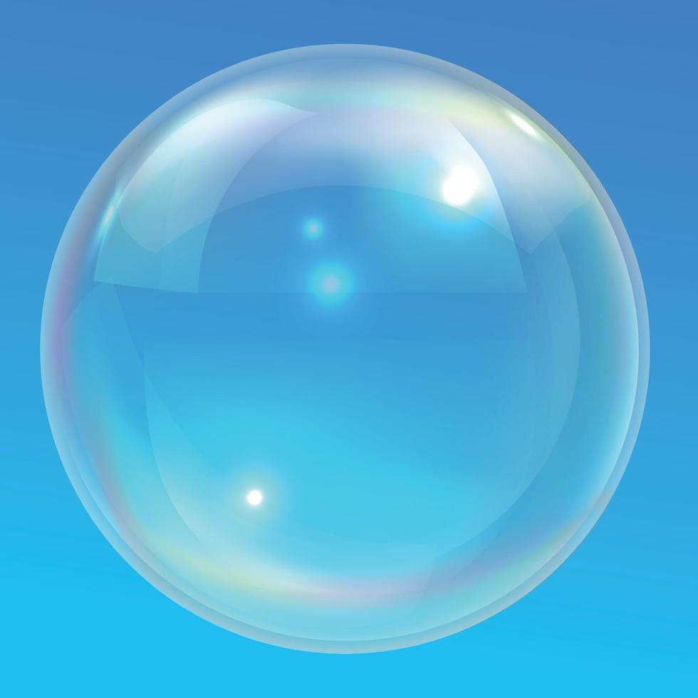 bolle d'aria di diverse dimensioni su sfondo chiaro vettore