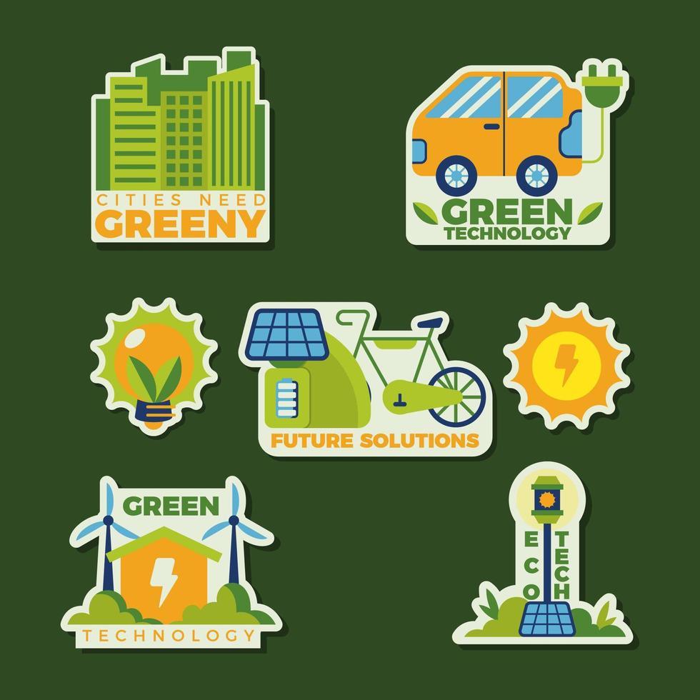 diversi tipi di tecnologia verde per combattere gli inquinanti vettore
