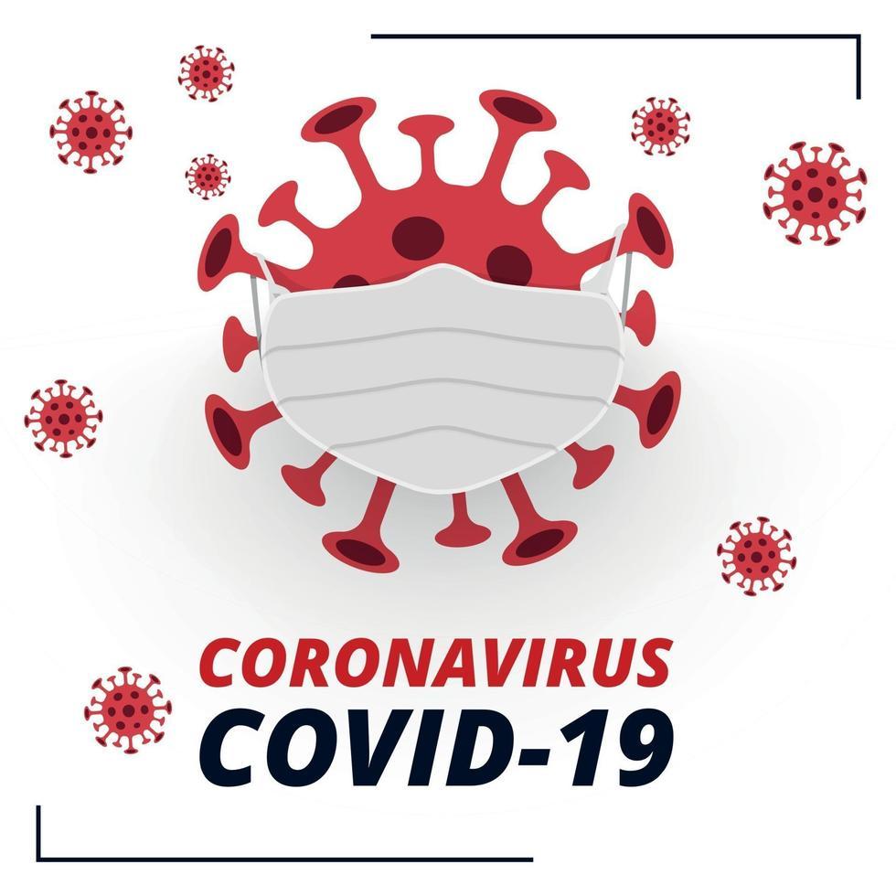 pericoloso nuovo virus covid-19, l'immagine dei batteri - vettore