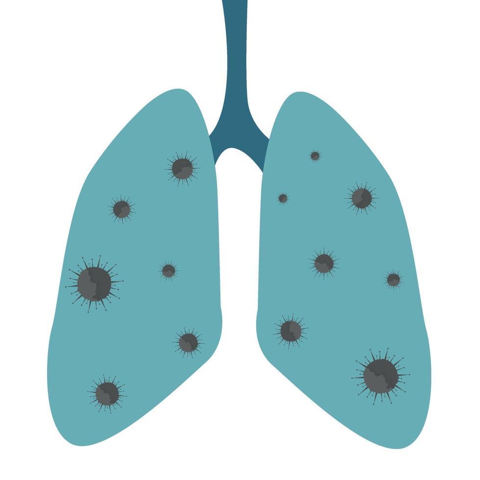 batteri romanzo virus covid-19, malattia polmonare - vettore