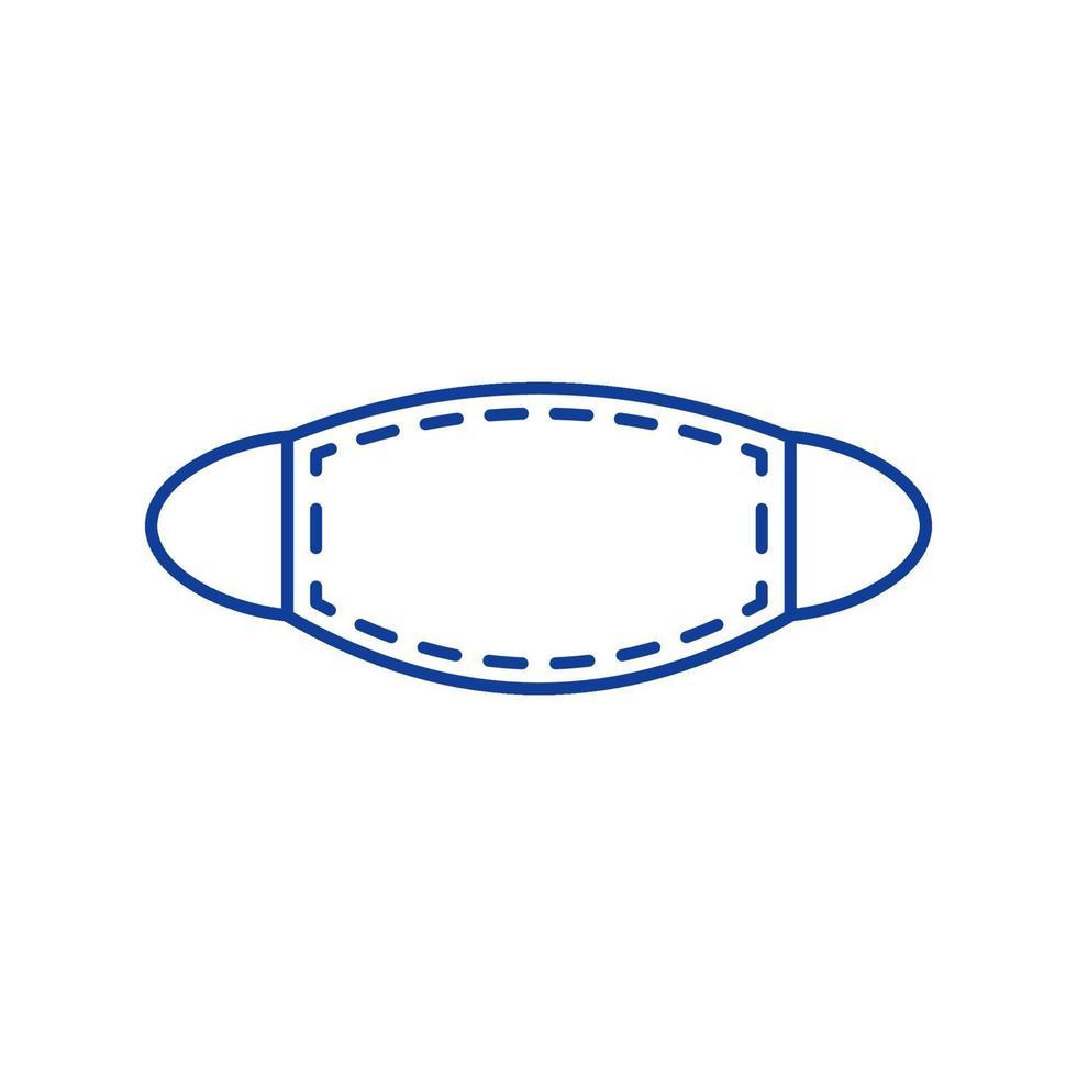 icona di colore rgb maschera facciale vettore