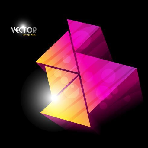 design colorato triangoli vettore