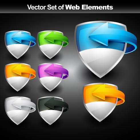 elemento di visualizzazione Web vettore
