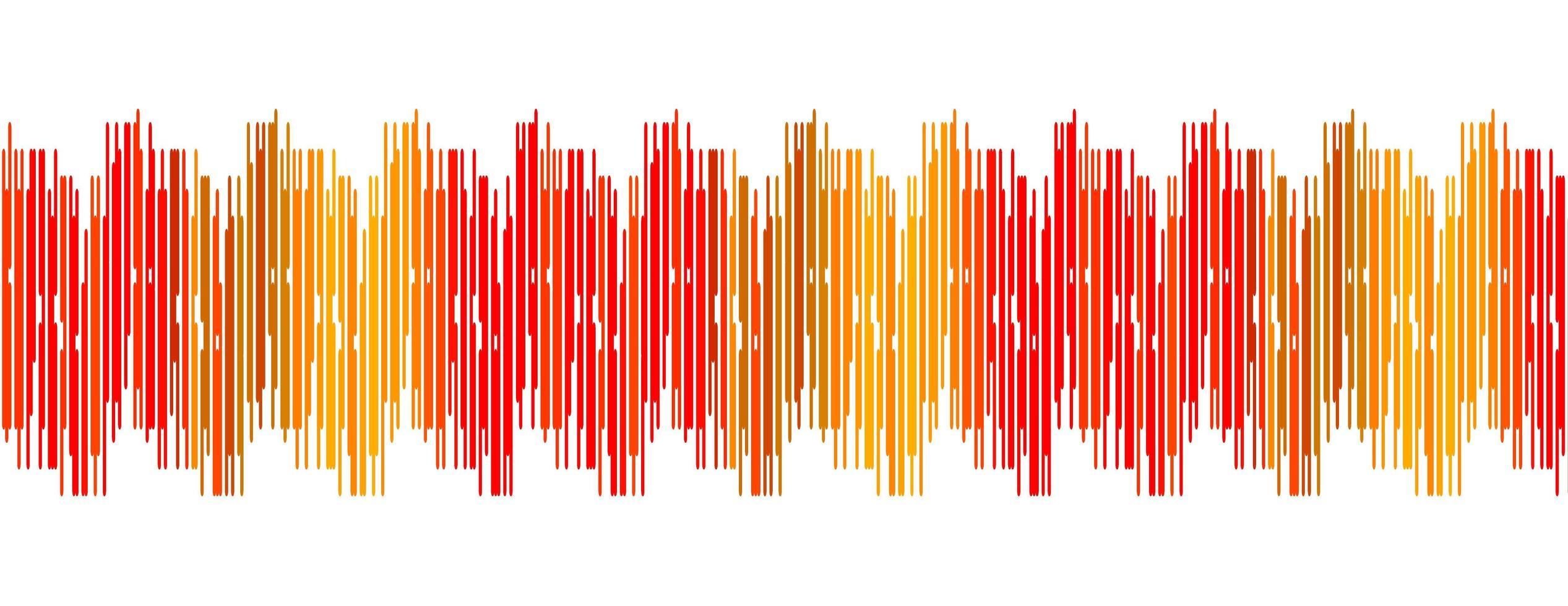 sfondo rosso onda sonora digitale vettore