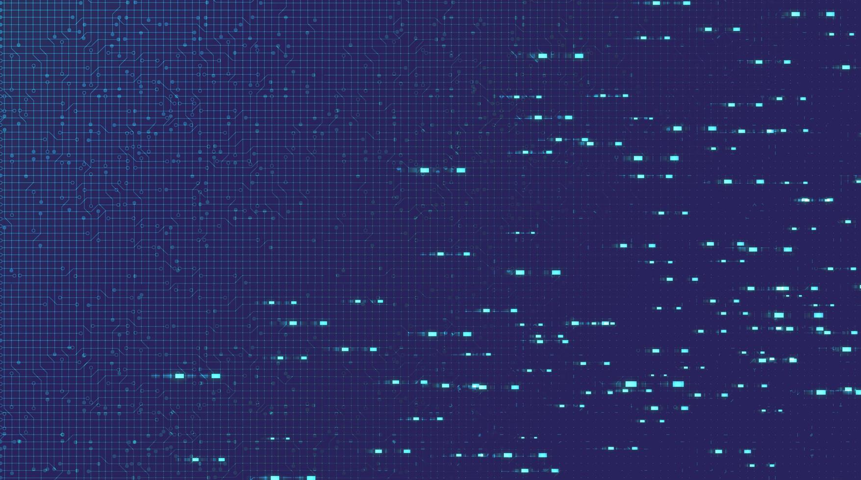 sfondo tecnologia microchip circuito elettronico luce viola vettore