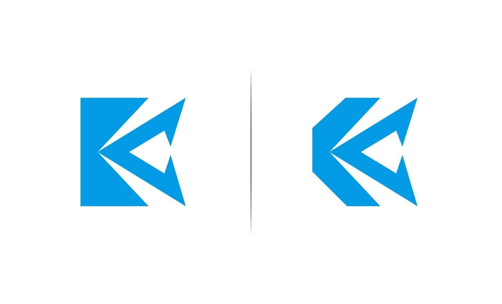 iniziale k logo design template vector