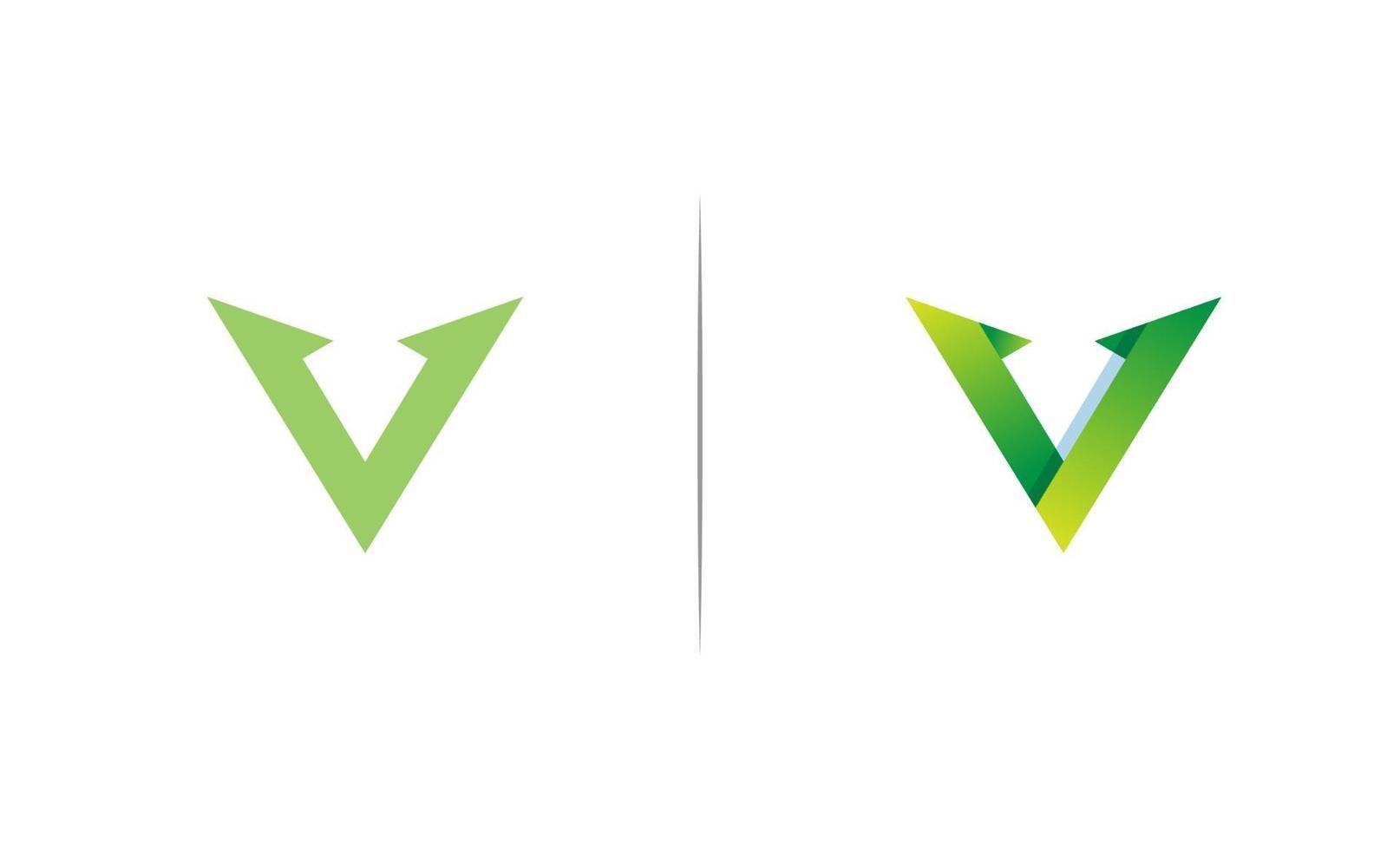 iniziale v logo design template vector