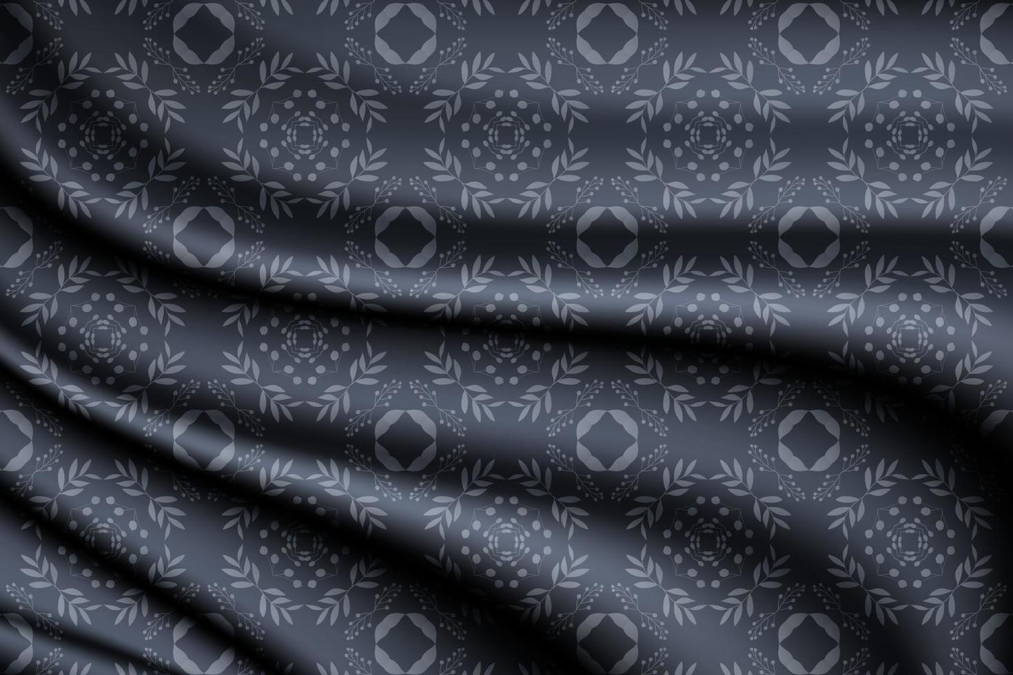 sfondo di seta blu con motivo floreale senza soluzione di continuità vettore