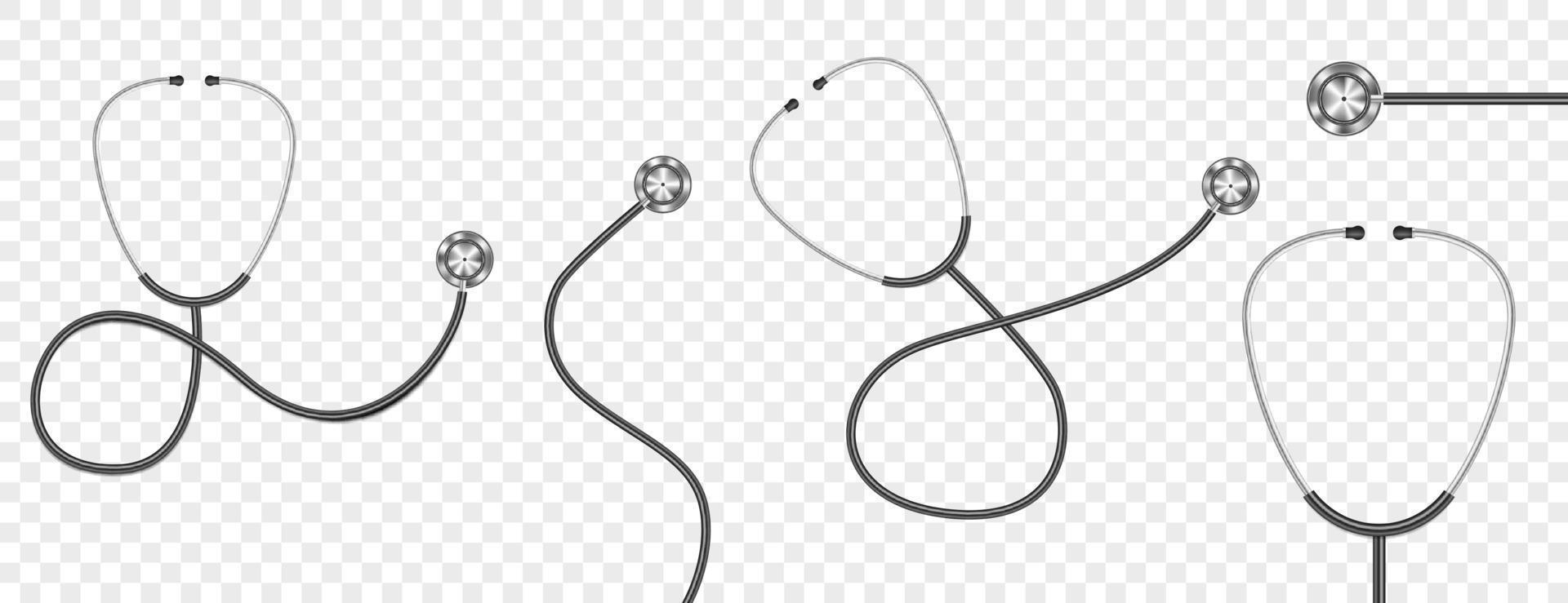 stetoscopio realistico isolato vettore
