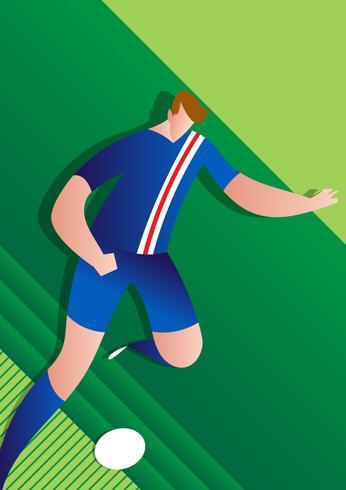Illustrazione del calciatore della coppa del Mondo dell'Islanda vettore