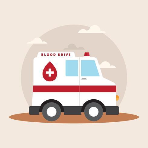 Illustrazione di vettore di azionamento del sangue