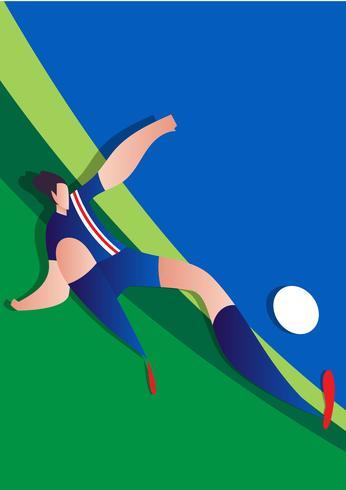 Giocatore di calcio della Coppa del mondo d'Islanda vettore