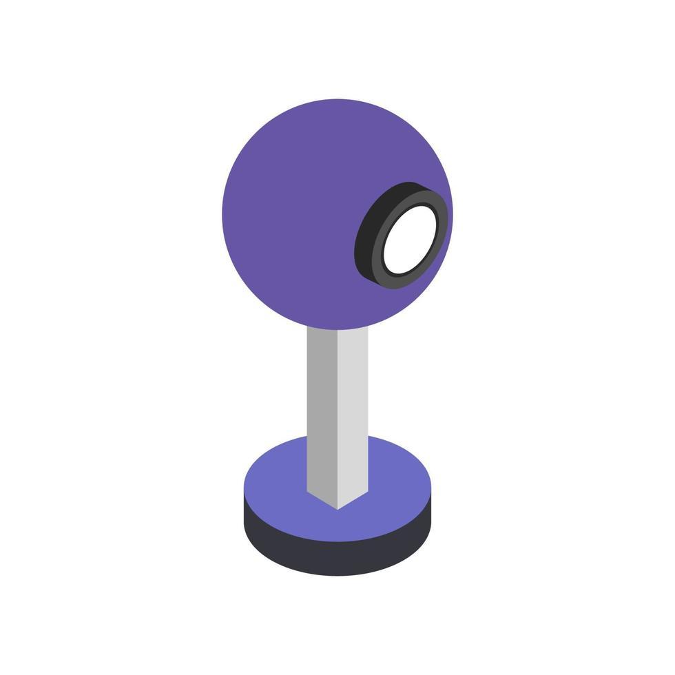 web cam isometrica sullo sfondo vettore