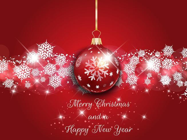 Natale e anno nuovo sfondo vettore