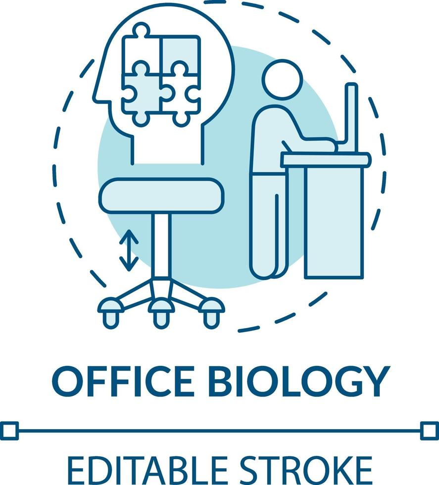 icona di concetto di biologia ufficio vettore