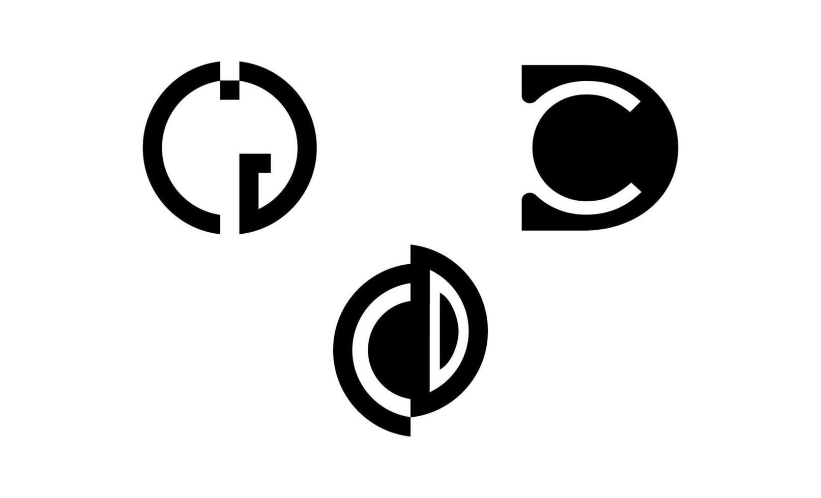 illustrazione vettoriale del logo cd iniziale