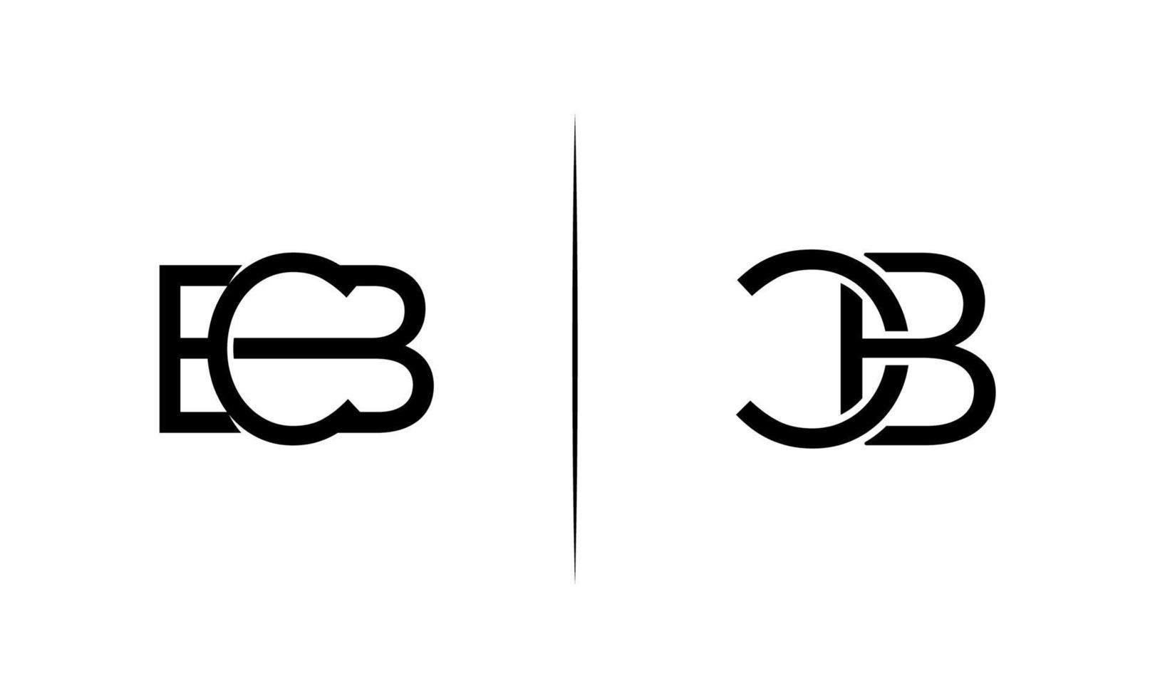 modello di progettazione del logo cb iniziale vettore