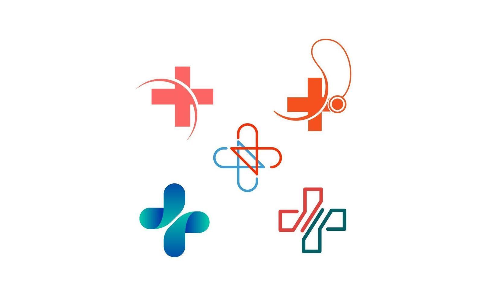 croce medica logo disegno vettoriale isolato