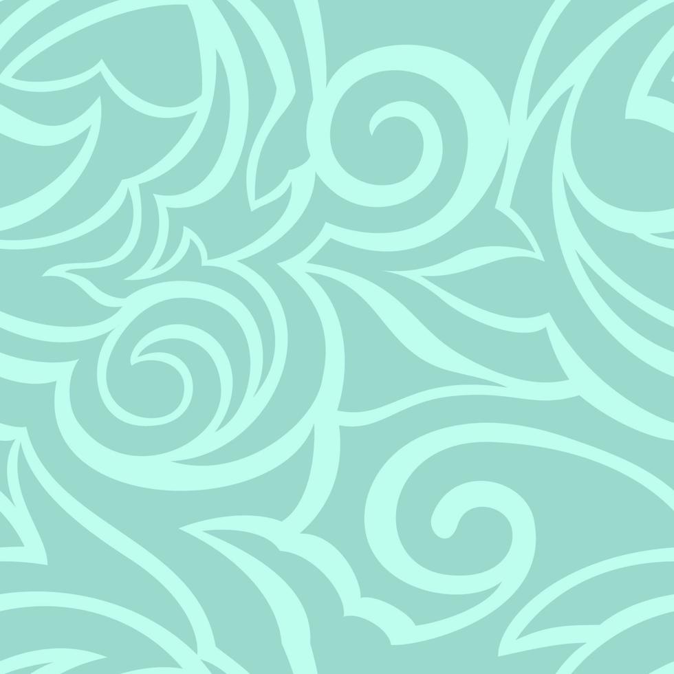 vettore texture di colore turchese isolato su sfondo del mare. motivo floreale per tessuti o imballaggi.
