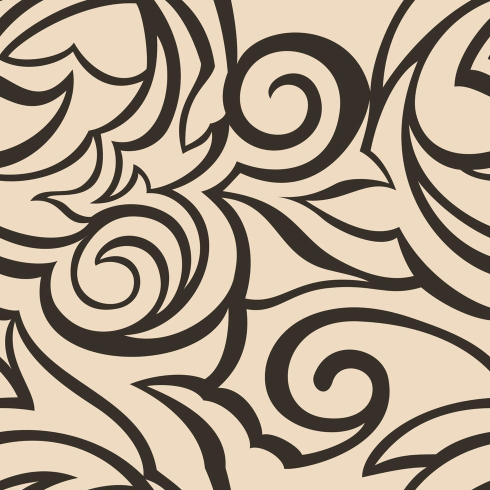 trama vettoriale di colore nero su sfondo beige. motivo floreale per tessuti o imballaggi.