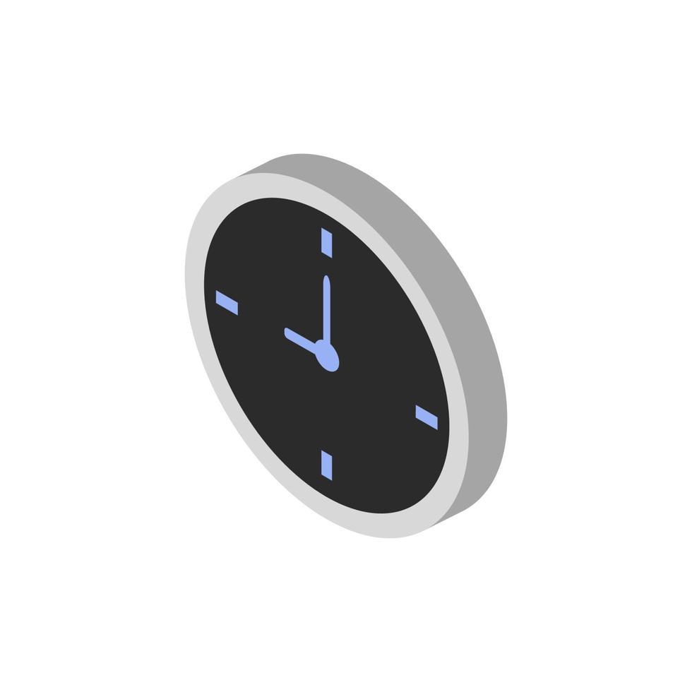 icona dell'orologio sullo sfondo vettore