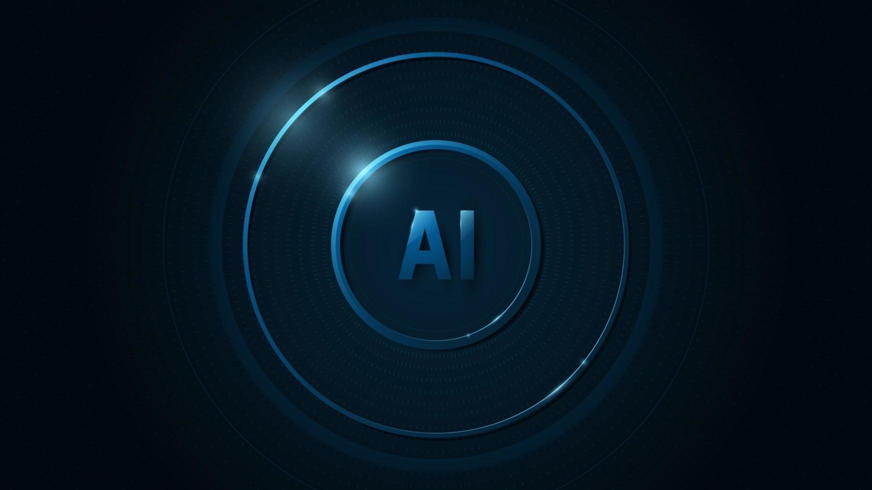 sistema operativo ai su sfondo blu scuro. vettore