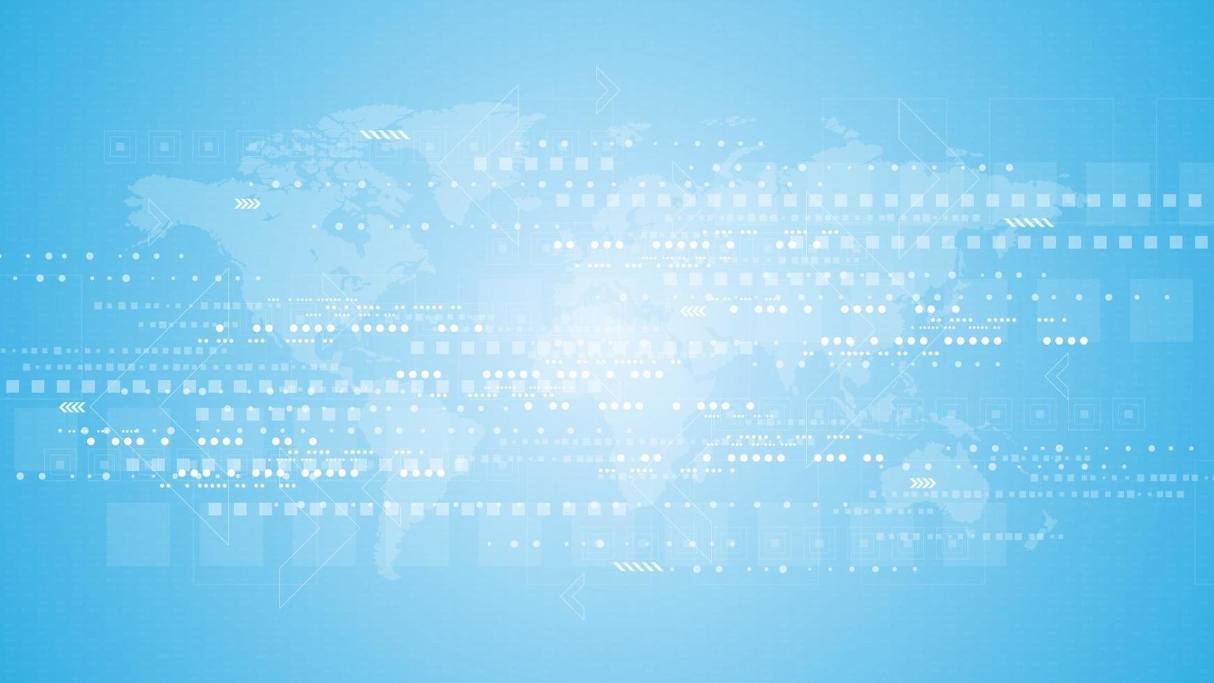 background tecnologico nel concetto di comunicazione digitale vettore
