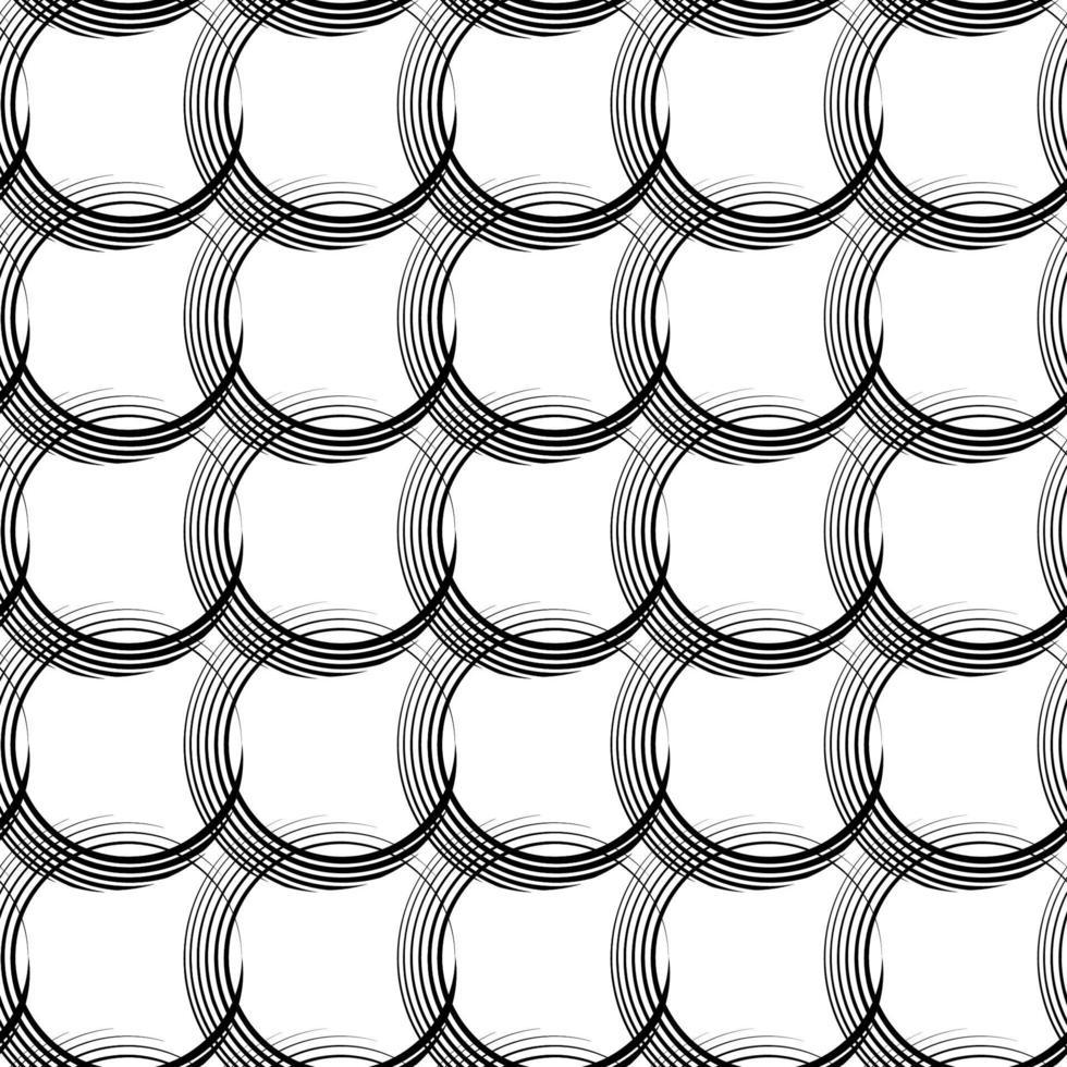 vettore modello lineare senza soluzione di continuità di linee irregolari sotto forma di cerchi che si intersecano.