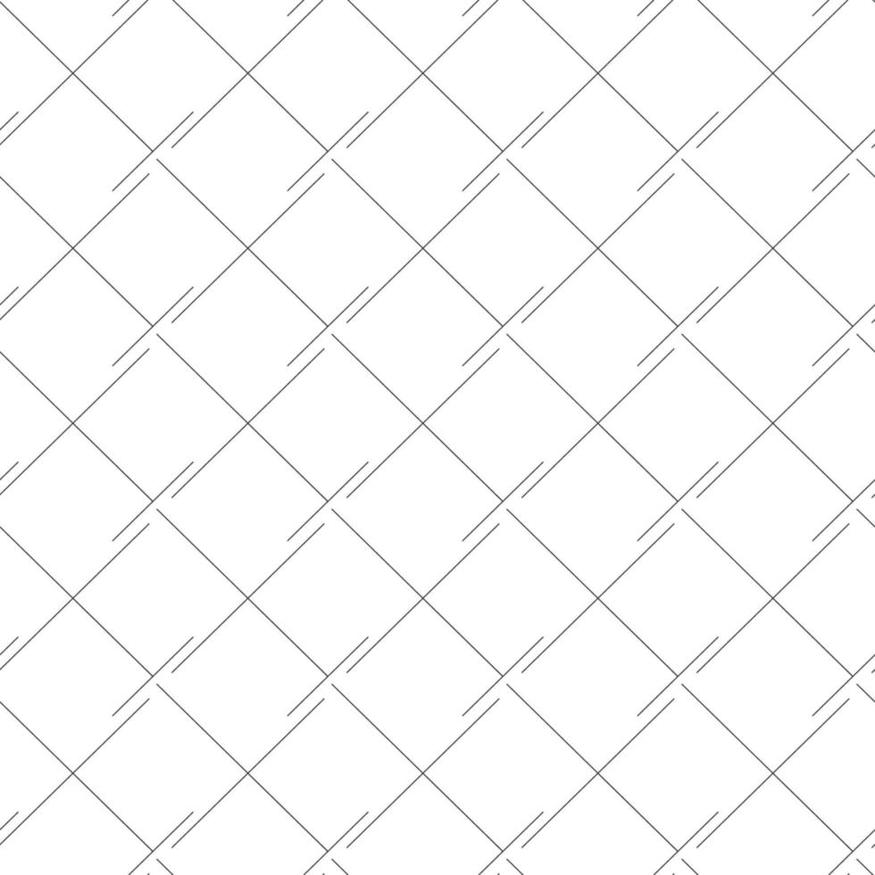 Vector seamless lineare modello piazze o rombi, linee nere isolati su bianco.