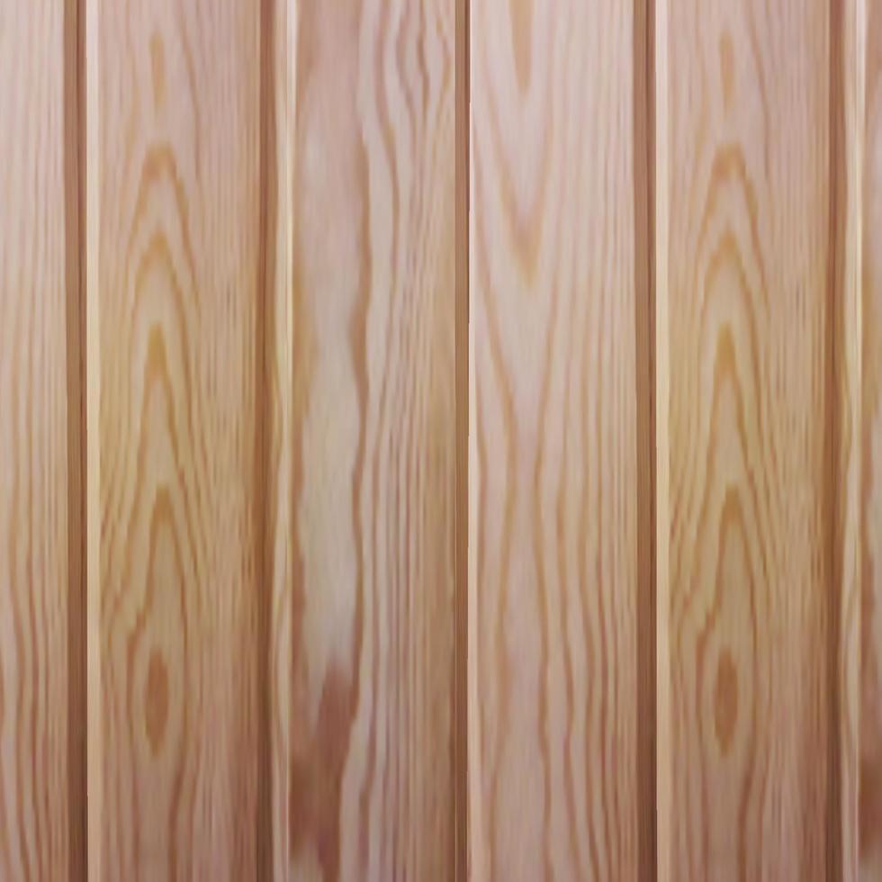 assi di legno di vettore in stile realistico. rivestimento ecologico per saune e bagni turchi.